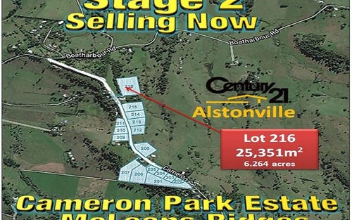 Lot 216, CAMERON ROAD, Mcleans Ridges NSW 2480