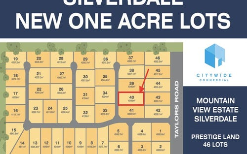 Lot 40, 180 Taylors Road, Silverdale NSW 2752