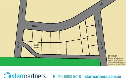 Lot 17 Off Heath Rd & Foxall Rd, Kellyville NSW 2155