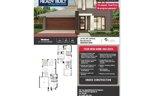 Lot 357 Elara Blvd., Marsden Park NSW 2765