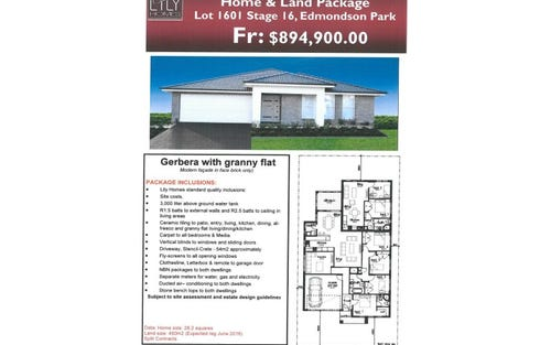 Lot 1601 Village Square Estate, Edmondson Park NSW 2174