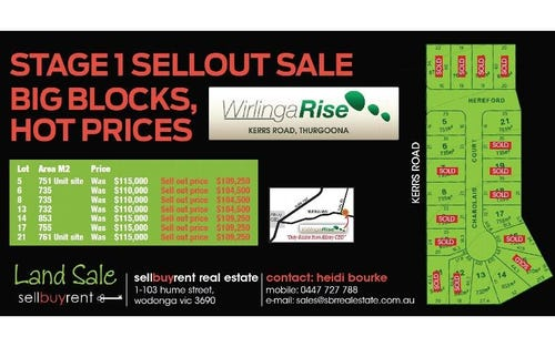 LOTS 1-21 WIRLINGA RISE, Thurgoona NSW 2640