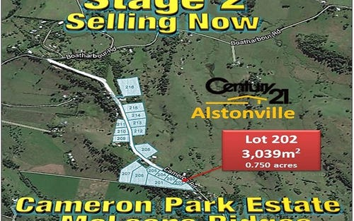 LOT 202, CAMERON ROAD, Mcleans Ridges NSW 2480