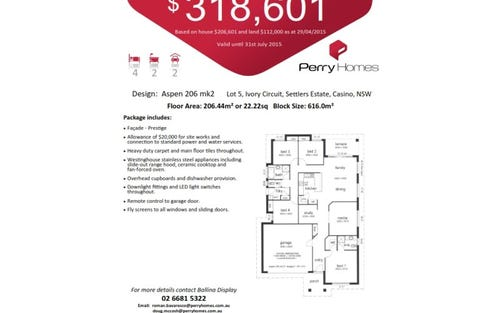 Lot 5 Ivory Circuit, Casino NSW 2470