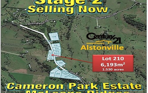 LOT 210, CAMERON ROAD, Mcleans Ridges NSW 2480
