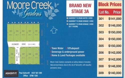 Lot 301-309 Moore Creek Gardens Stage 3A, Tamworth NSW 2340