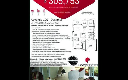 Lot 17 March Street, Lawrence NSW 2460