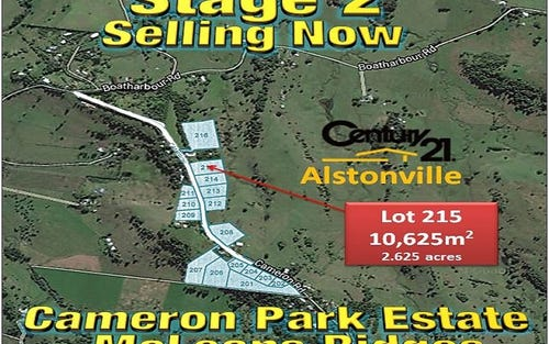 LOT 215, CAMERON ROAD, Mcleans Ridges NSW 2480