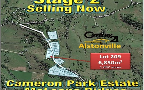 LOT 209, CAMERON ROAD, Mcleans Ridges NSW 2480