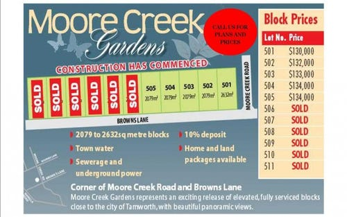 Lot 503 Moore Creek Gardens Browns Lane, Tamworth NSW 2340