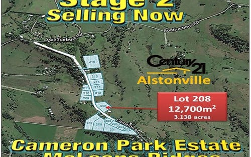 LOT 208, CAMERON ROAD, Mcleans Ridges NSW 2480