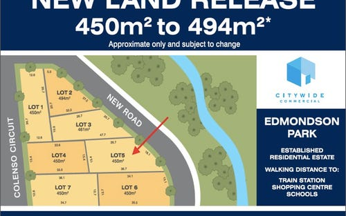Lot 5, Colenso Circuit, Edmondson Park NSW 2174