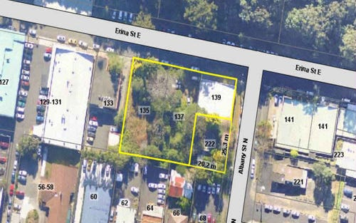 135 & 137 Erina St and Albany St North, Gosford NSW 2250