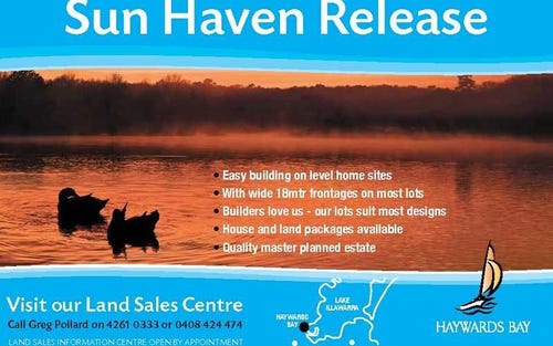 Sunhaven (Stage5), Haywards Bay NSW 2530