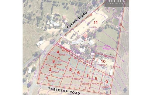 Lot 1-9, 561 Burma Road, Table Top NSW 2640