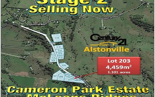 LOT 203, CAMERON ROAD, Mcleans Ridges NSW 2480