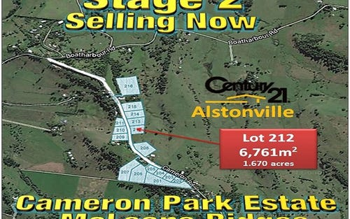 LOT 212, CAMERON ROAD, Mcleans Ridges NSW 2480