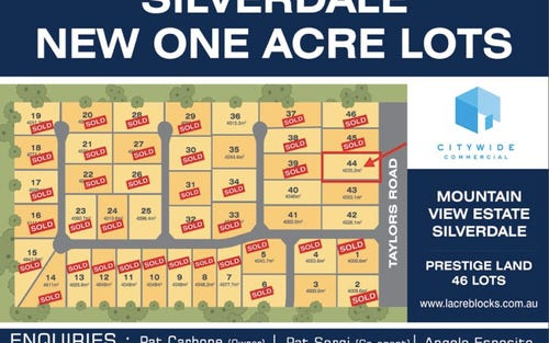 Lot 44, 180 Taylors Road, Silverdale NSW 2752