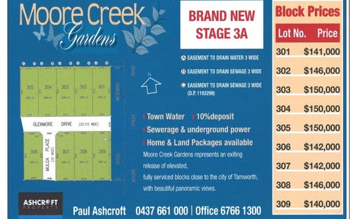 Lot 304 Glenmore Drive, Moore Creek Gardens, Tamworth NSW 2340