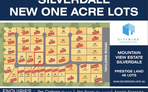 Lot 25, 180 Taylors Road, Silverdale NSW 2752