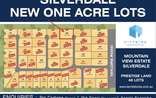 Lot 36, 180 Taylors Road, Silverdale NSW 2752