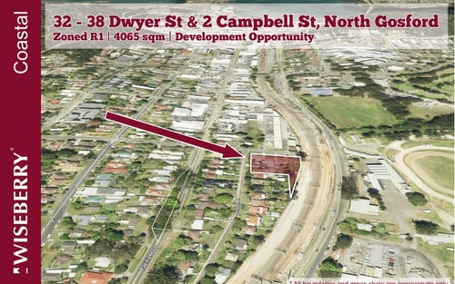 32-38 Dwyer St & 2 Campbell St, North Gosford NSW 2250