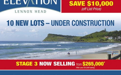 Elevation Drive (off North Creek Road), Lennox Head NSW 2478