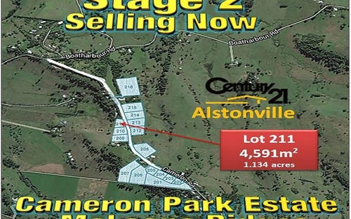 LOT 211, CAMERON ROAD, Mcleans Ridges NSW 2480