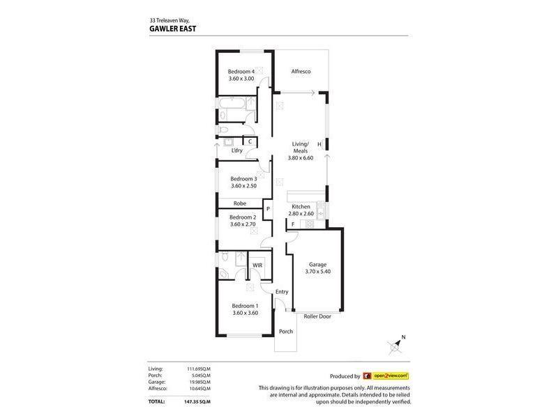 33 Treleaven Way, Gawler East SA 5118 floorplan